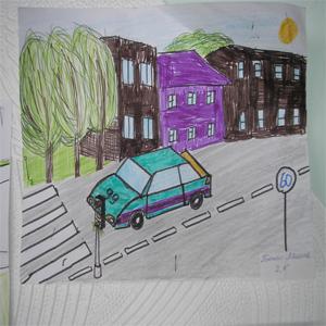 Раскраски дорожного движения для школьников